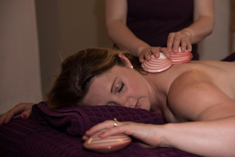 Lava Shell Back Massage in the Lake District